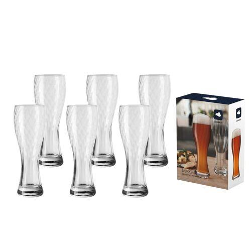LEONARDO Bierglas »MAXIMA Weizenbierglas 0,5l 6er Set« (6-tlg), Glas