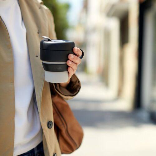 LEKUE Tasse »faltbarer Trinkbecher TO GO 0.35l«, Zusammengefaltet 6 cm hoch