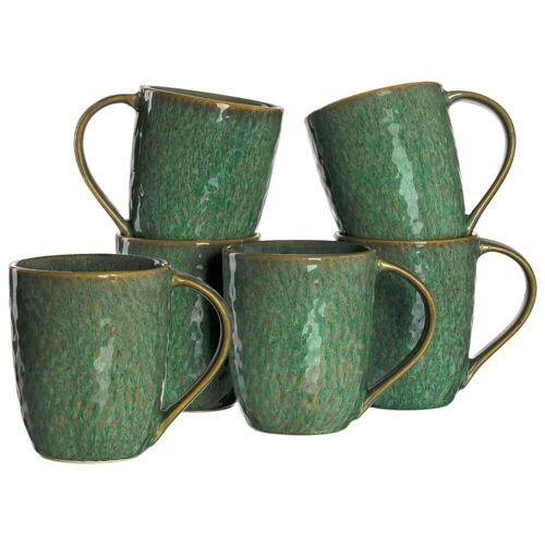 LEONARDO Becher »MATERA Keramikbecher 330 ml grün 6er Set« (6-tlg)