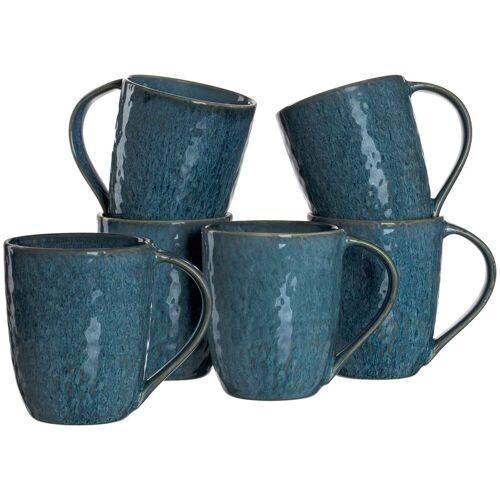 LEONARDO Becher »MATERA Keramikbecher 330 ml blau 6er Set« (6-tlg)