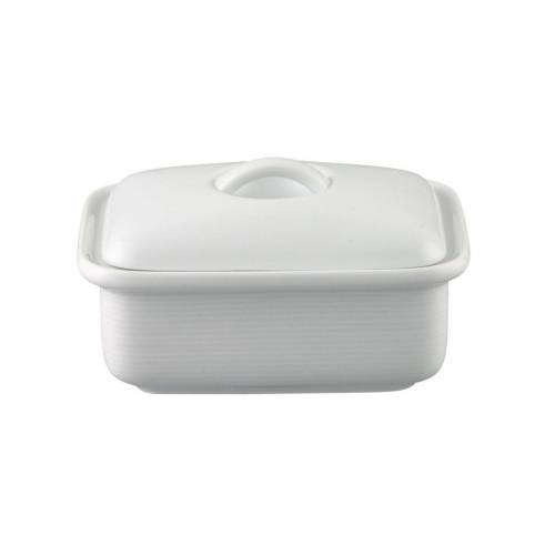 Thomas Porzellan Butterdose »Trend Weiß Butterdose 250 gr.«, Porzellan, (2-tlg)