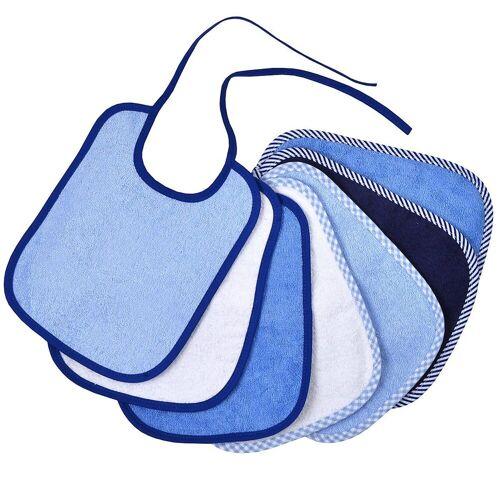 Wörner Lätzchen »Bindelätzchen 7er Set, blau, 20 x 25 cm«, blau