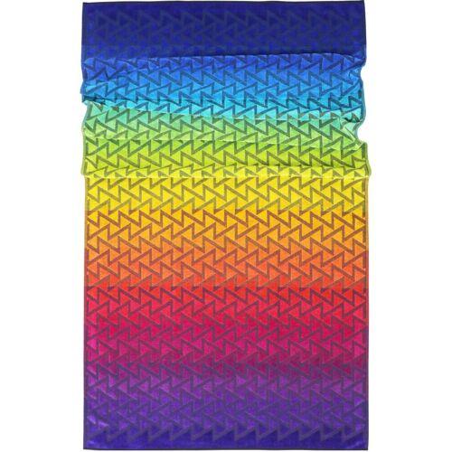 Lashuma Strandtücher (1-St), Regenbogenfarben mit Zick Zack Muster