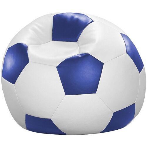 Home affaire Sitzsack »Fußball«, in 5 Farben, weiß-blau