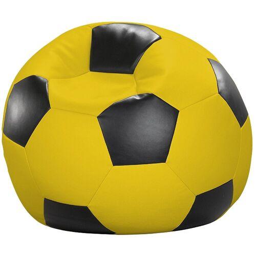 Home affaire Sitzsack »Fußball«, in 5 Farben, gelb-schwarz