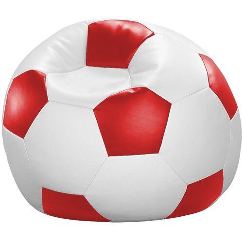Home affaire Sitzsack »Fußball«, in 5 Farben, weiß-rot
