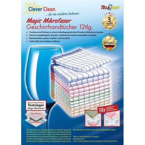 TELESHOP Geschirrtuch »CleverClean®Magic Mikrofaser«, (Set, 12-tlg)