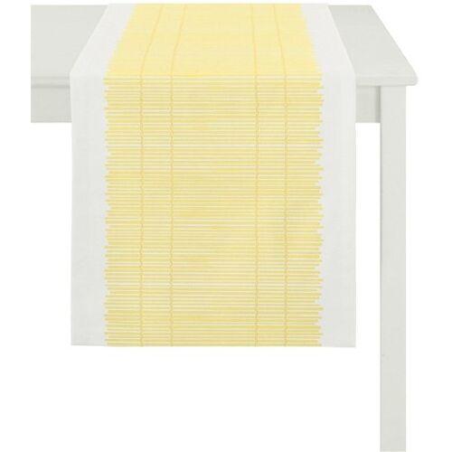 Apelt Tischläufer »3033 Loft Bambusmatte« (1-tlg), gelb-weiß