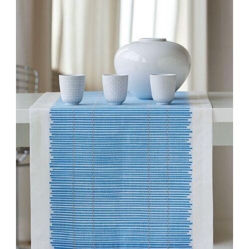 Apelt Tischläufer »3033 Loft Bambusmatte« (1-tlg), blau-weiß