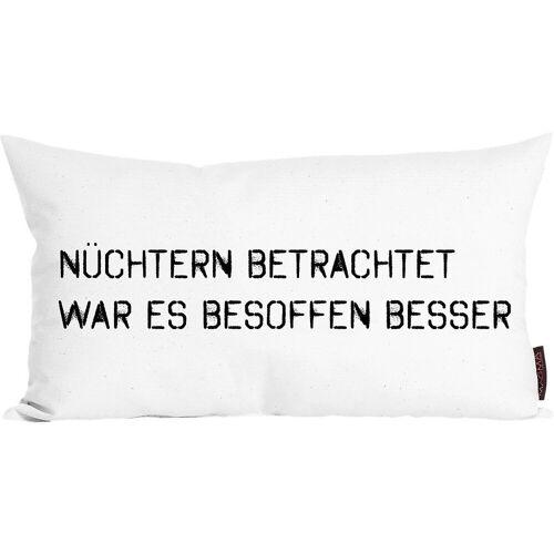 "Magma Heimtex Dekokissen »Dekokissen ""Der frühe Vogel"" 30x50 cm«"