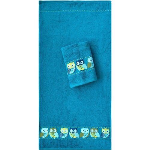 Dyckhoff Handtücher »Eulen« (2-St), mit süßen Eulen, petrol