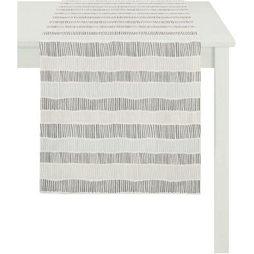Apelt Tischläufer »3949 OUTDOOR« (1-tlg), weiß-grau