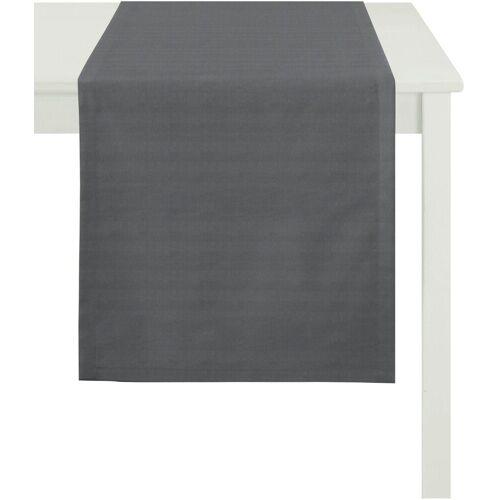 Apelt Tischläufer »3944 UNI BASIC« (1-tlg), schwarz