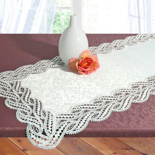 Delindo Lifestyle Tischläufer »DIANA«, Edle Macramee-Spitze, weiß