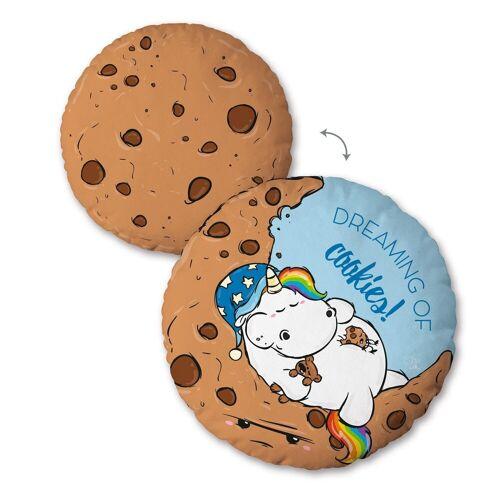Pummeleinhorn Dekokissen »Cookies«, mit schlafendem