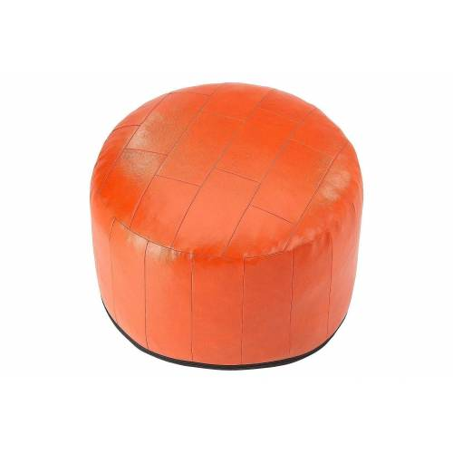 Home affaire Pouf, Patchwork-Sitzkissen, terra