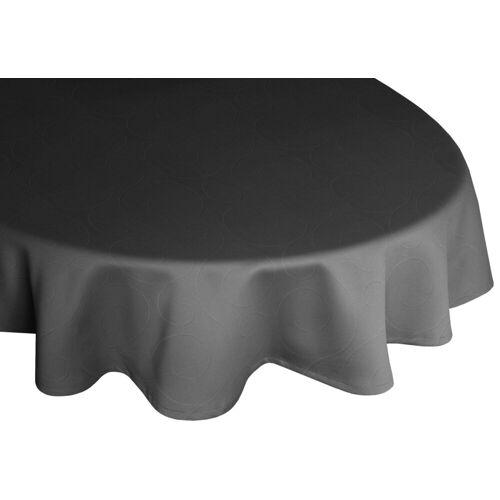 Wirth Tischdecke »Neufahrn«, oval, schwarz
