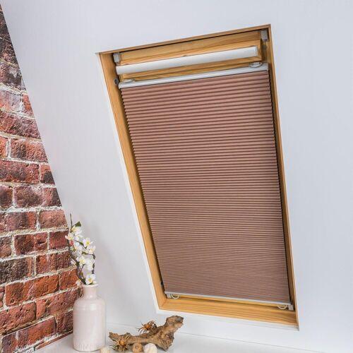 Liedeco Dachfensterplissee »Universal Dachfenster-Plissee«, , verdunkelnd, ohne Bohren, verspannt, Fixmaß, beige