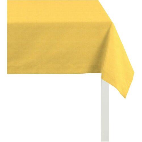 Apelt Tischdecke »3947 OUTDOOR, Rips Uni« (1-tlg), gelb
