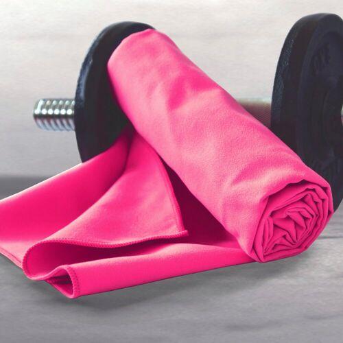 Dyckhoff Sporthandtuch »Sporttuch Mikrofaser« (2-St), in Meshtasche, pink