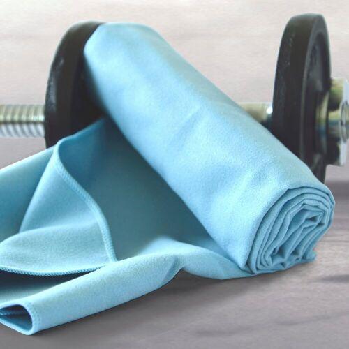 Dyckhoff Sporthandtuch »Sporttuch Mikrofaser« (2-St), in Meshtasche, blau