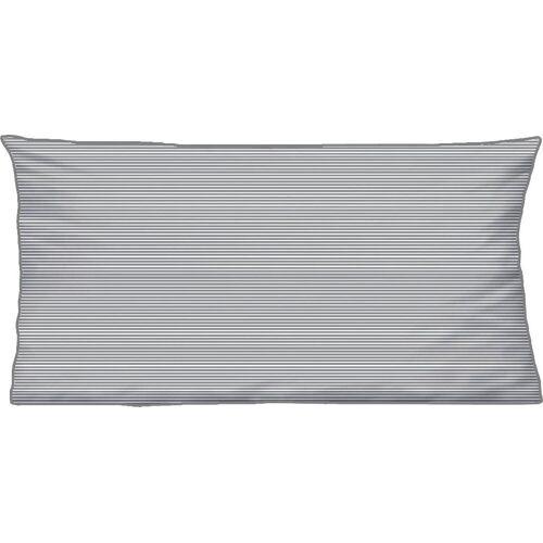 Biberna Kissenbezüge »Liora«, (2 Stück), mit Paspel, grau