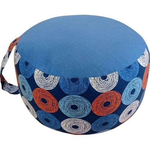 herbalind Yogakissen »Yogakissen 6523«, , orange-blau-weiß