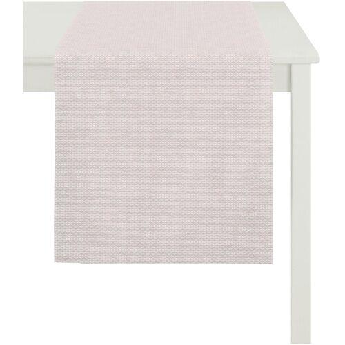Apelt Tischläufer »1104 Loft Style, Jacquard« (1-tlg), rosé