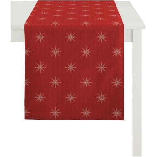 Apelt Tischläufer »2607 Christmas Elegance, Jacquard« (1-tlg), rot