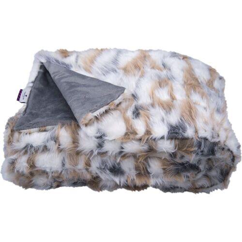 TOM TAILOR Wohndecke »Cosy Fur«, , in Echtfelloptik