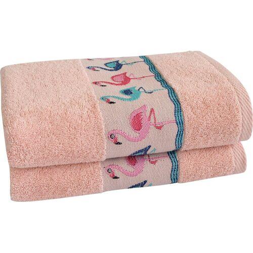 Dyckhoff Handtücher »Flamingos« (2-St), mit Flamingo Bordüre