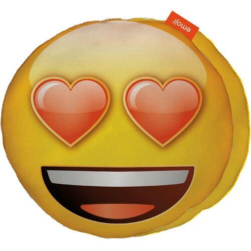 Emoji Dekokissen »Love Eyes«, im Smiley Design