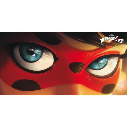 Strandtuch »Ladybug Eyes« (1-St), Miraculous, mit großer Nahaufnahme