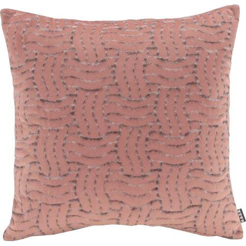 H.O.C.K. Dekokissen »Fugato«, mit flauschigem Stoff, rosa