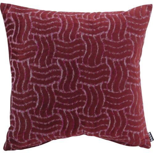 H.O.C.K. Dekokissen »Fugato«, mit flauschigem Stoff, rot