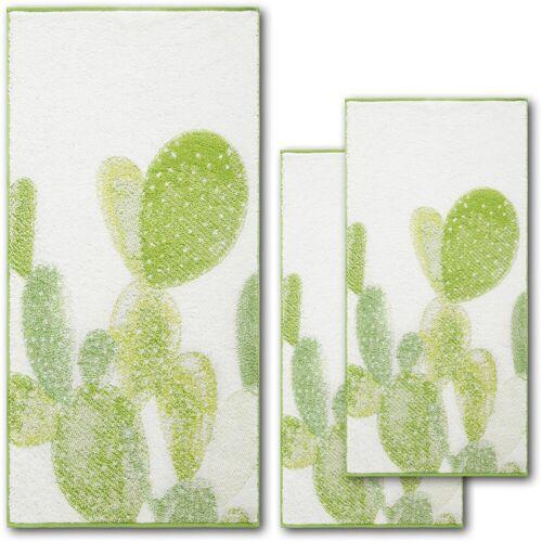 Dyckhoff Handtuch Set »Green Paradise Cactus« (Set, 3-tlg), mit Kakteenmotiven