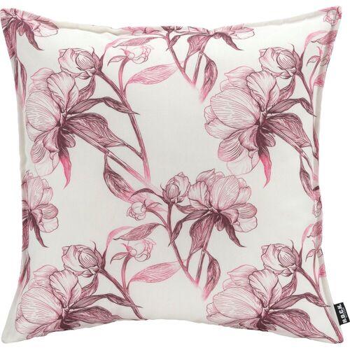 H.O.C.K. Dekokissen »Fleur«, mit Blumen, rosa