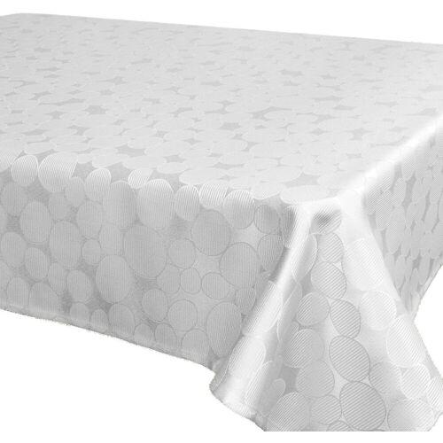 Delindo Lifestyle Tischdecke »ROM«, Jacquard, Fleckschutz, 180 g/m², weiß
