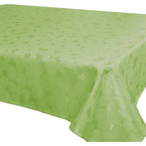 Delindo Lifestyle Tischdecke »ROM«, Jacquard, Fleckschutz, 180 g/m², grün