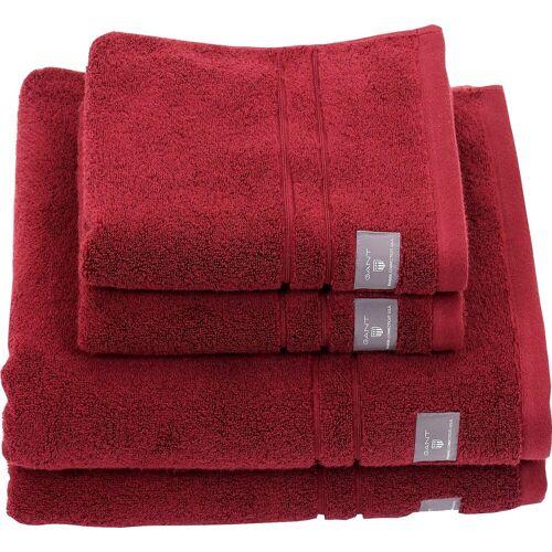 Gant Handtücher »Premium«, , hochwertiges Zero-Twist Garn, carbernet red