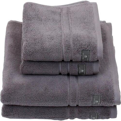 Gant Badetuch »Premium«, , hochwertiges Zero-Twist Garn, stone grey