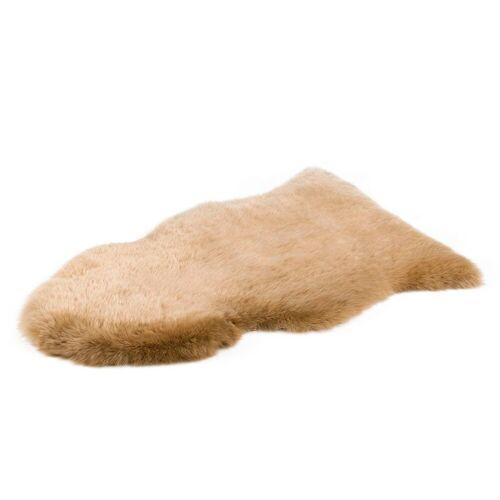 Gözze Fellteppich »Schaffell Teppich«, , fellförmig, Höhe 50 mm, echtes Schaffell, taupe