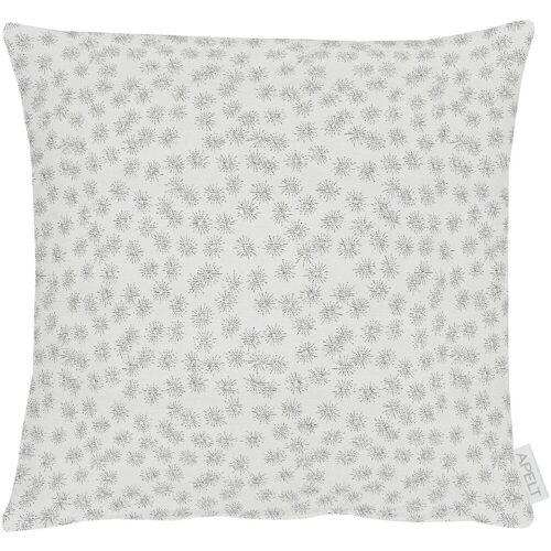 Apelt Dekokissen »1501«, silberfarben-weiß