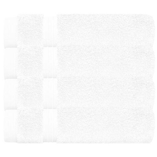 Lashuma Handtuch Set »Linz« (Set, 4-tlg), Gästehandtücher 30x50 cm, 4x Frottee Handtücher für Bad - Küche, weiß