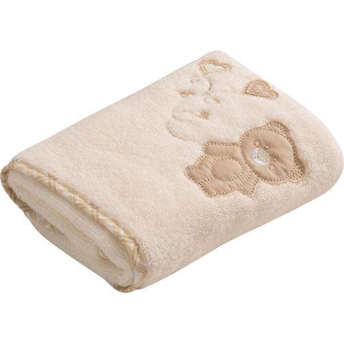 Vossen Handtuch »Teddy« (2-St), mit niedlicher Stickerei, ivory
