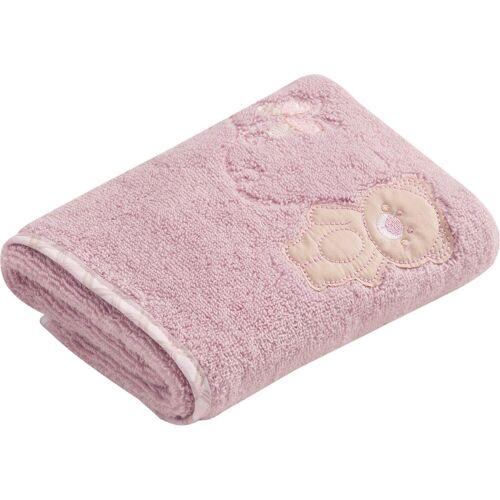 Vossen Handtuch »Teddy« (2-St), mit niedlicher Stickerei, lavender