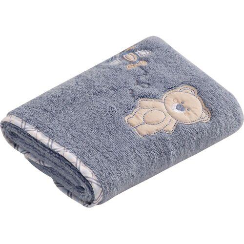 Vossen Handtuch »Teddy« (2-St), mit niedlicher Stickerei, smoke blue