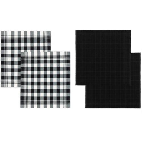 DDDDD Geschirrtuch »Block«, (Set, 4-tlg), Combiset: