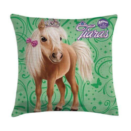 TOP! Zierkissen »Kissen Pferd Pony mit Krone, 40x40 cm«, 100% Polyester