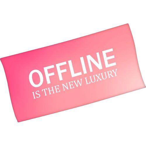 Minions Badetuch »Offline is the new luxury« (1-St), mit lustigem Spruch